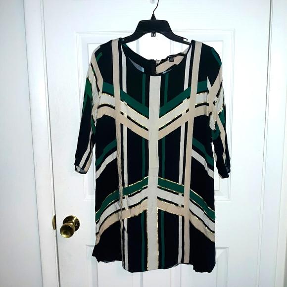 Geo print mini dress
